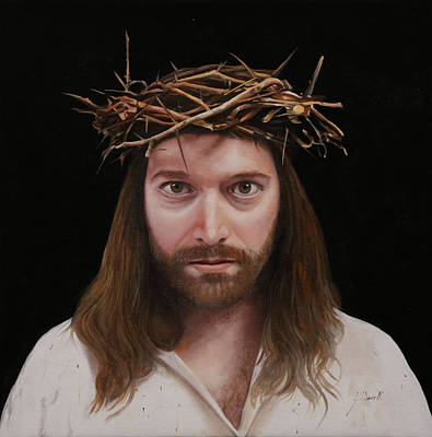 Thorns Wall Art - Painting - Jesus by Guido Borelli