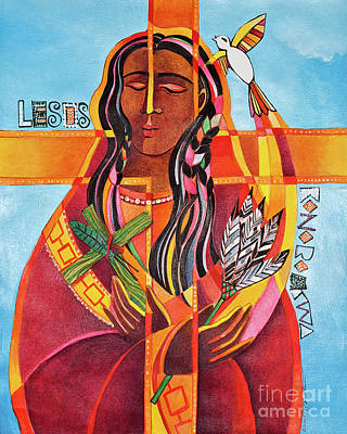 Painting - Jesus I Love You - Lesos Konoronhkwa - Mmkon by Br Mickey McGrath OSFS