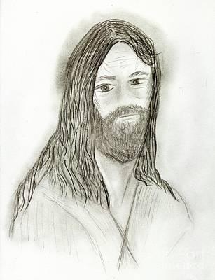Jesus I Art Print by Sonya Chalmers