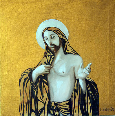 Jesus Icon Original by Matthew Lake