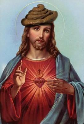Jesus Freaks Digital Art - Jesus In A Poop Hat by Ryan Almighty