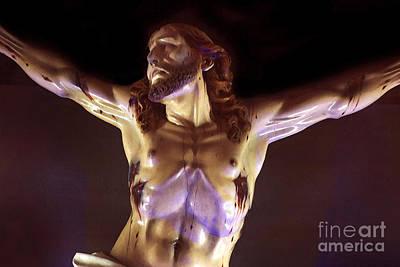 Jesus Christ Watercolor Photograph - Jesus In Azogues - Watercolor by Al Bourassa