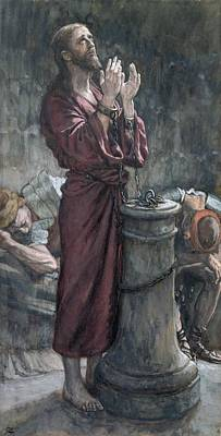 Jesus In Prison Art Print by Tissot