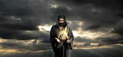 Jesus In The Clouds Art Print