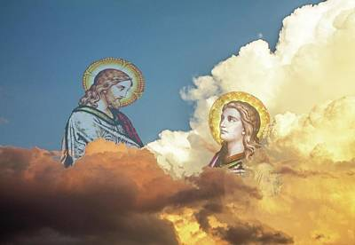 Photograph - Jesus In The Clouds Over Dexter Drumlin by Michael Saunders