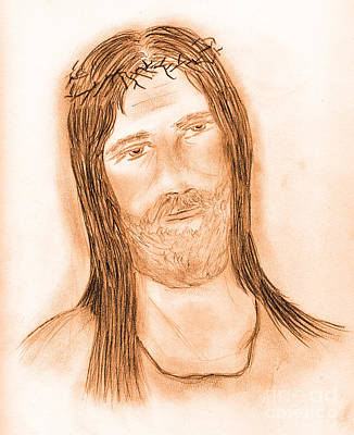 Jesus Drawing - Jesus In The Light by Sonya Chalmers