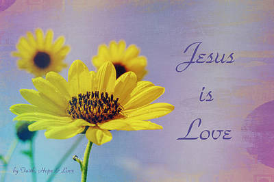 Photograph - Jesus Is Love by Leticia Latocki
