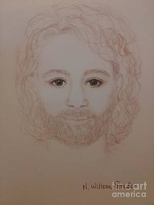 Yeshua Drawing - Jesus Is My Friend by N Willson-Strader