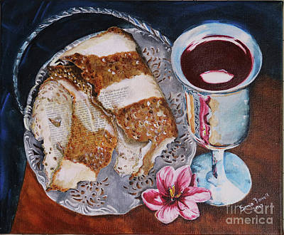 Communion Mixed Media - Jesus Is The Bread Of Life by Sonia Farrell