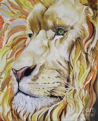 Jesus Is Worthy - The Lion Of Judah Art Print by Sonia Farrell