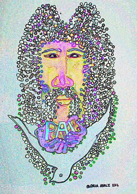 Saviour Mixed Media - Jesus King Of Peace by Gloria Ssali
