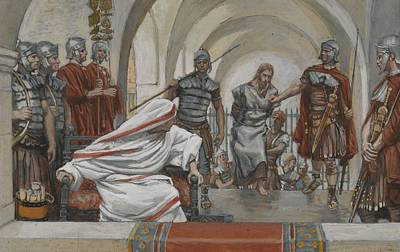 Tied-up Painting - Jesus Led From Herod To Pilate by Tissot