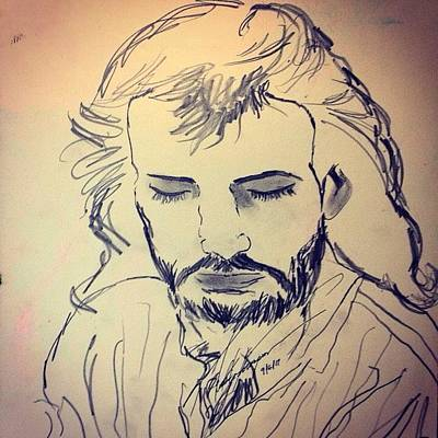 Drawing - Jesus Life by Love Art Wonders By God