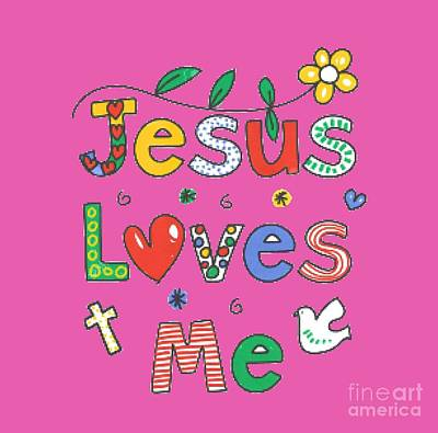 Painting - Jesus Loves Me T-shirt by Herb Strobino