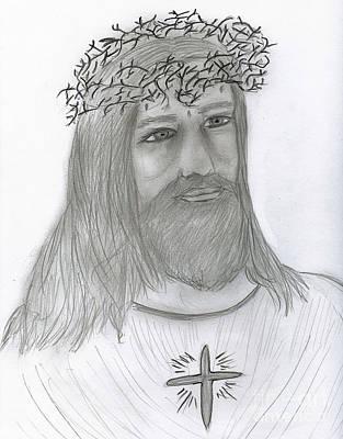 Jesus Drawing - Jesus Loves Me by Sonya Chalmers