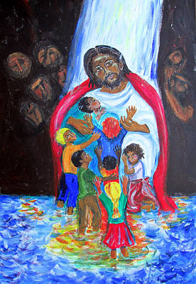 Painting - Jesus Loves The Children by Sarah Hornsby