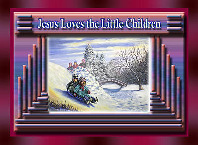 Painting - Jesus Loves The Little Children by Saeed Hojjati