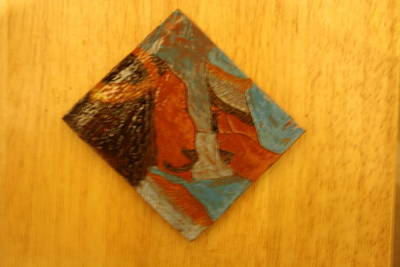Ceramic Art - Jesus Meets His Mother Mary - Tile by Gloria Ssali