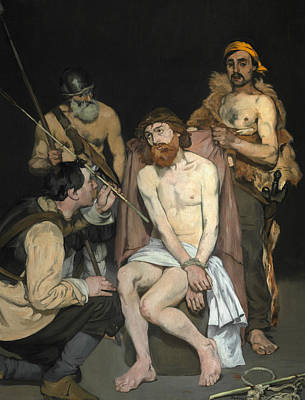 Painting - Jesus Mocked By The Soldiers by Edouard Manet