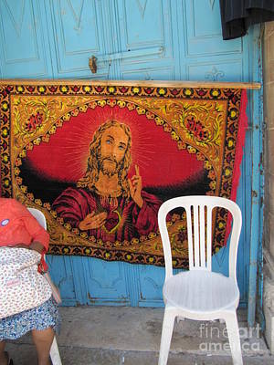 Photograph - Jesus Mystic Old Jerusalem Market by Donna L Munro
