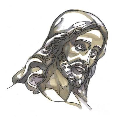Jesus No 1 Art Print by Edward Ruth