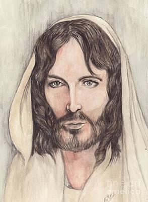 Religious Mixed Media - Jesus Of Nazereth by Morgan Fitzsimons