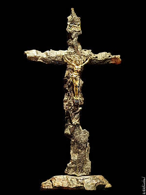 Photograph - Jesus On A Wwi Shrapnel Cross by Weston Westmoreland