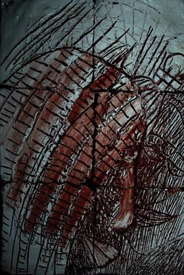 Ceramic Art - Jesus On Calvary - Plaque by Gloria Ssali