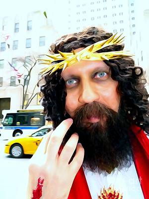 Photograph - Jesus On Fifth Ave by Ed Weidman