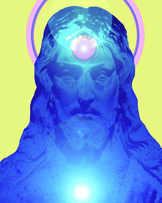 Jesus-portrait No. 04 Art Print