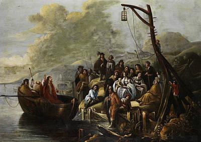 Painting - Jesus Preaches At The Sea Of Galilee by Gerbrand van den Eeckhout