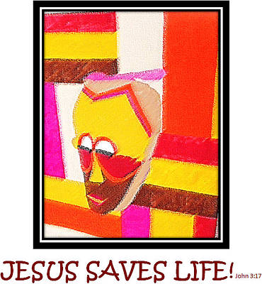Digital Art - Jesus Saves Life by Antonia Pascoal