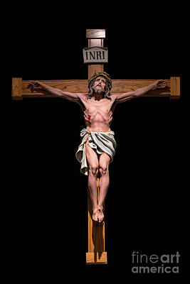 Inri Photograph - Jesus, Savior Of The World by Bonnie Barry