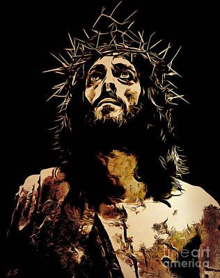 Drawing - Jesus by Sergey Lukashin