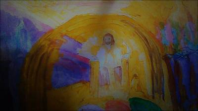 Painting - Jesus Sits On The Throne by Love Art Wonders By God