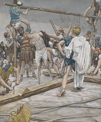 Jesus Stripped Of His Clothing Art Print by Tissot