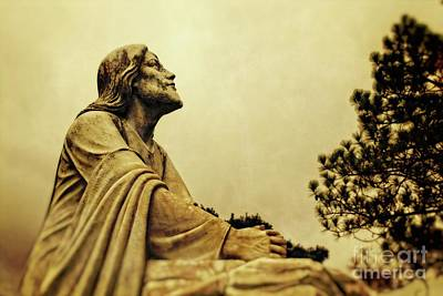 Digital Art - Jesus Teach Us To Pray - Christian Art Prints by Ella Kaye Dickey
