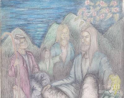 Jesus Teaching The Children Art Print by Thomas Higdon