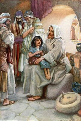 Little People Painting - Jesus Teaching The People by Arthur A Dixon