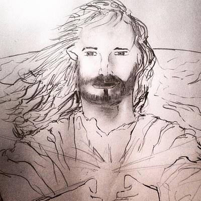 Photograph - Jesus The Light Of The World by Love Art Wonders By God