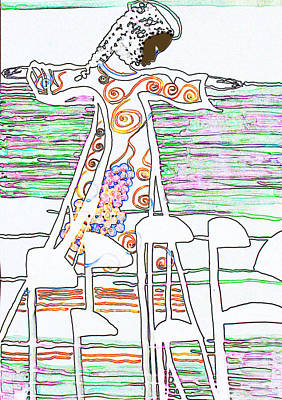 Painting - Jesus The Vine by Gloria Ssali