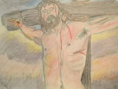Jesus  Art Print by Victoria Hasenauer