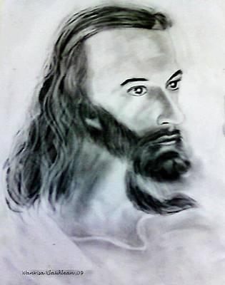 Drawing - Jesus by Wanvisa Klawklean