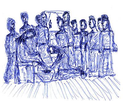 Jesus Washing A Disciple's Feet Art Print