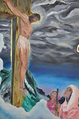 Pierced Side Painting - Jesus Wept by Richard Press