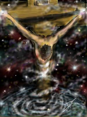Digital Art - Jesus World by Darren Cannell