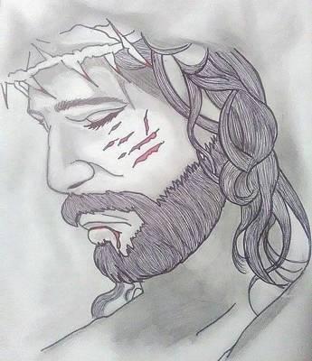 Nanas Art Drawing - Jesus by Yolanda Rodriguez