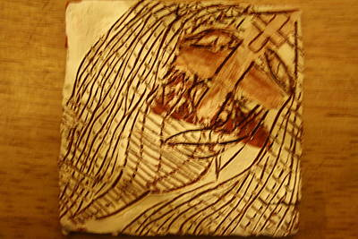 Ceramic Art - Jesuschrist - Tile by Gloria Ssali