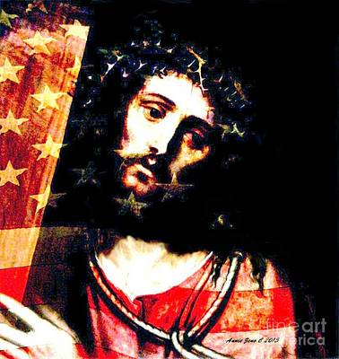 Painting - Jesus's Pain For America by Annie Zeno