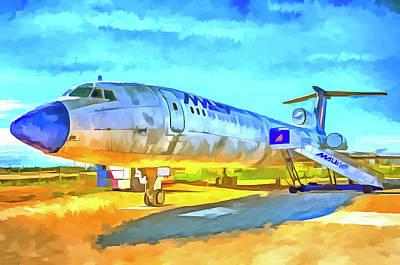 Mixed Media - Jet Aircraft Pop Art by David Pyatt
